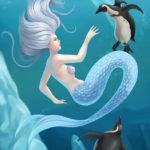 Arctic Mermaid and Penguins