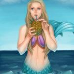 Pineapple Cocktail Mermaid